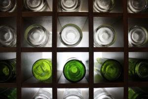 botelleros de cristal